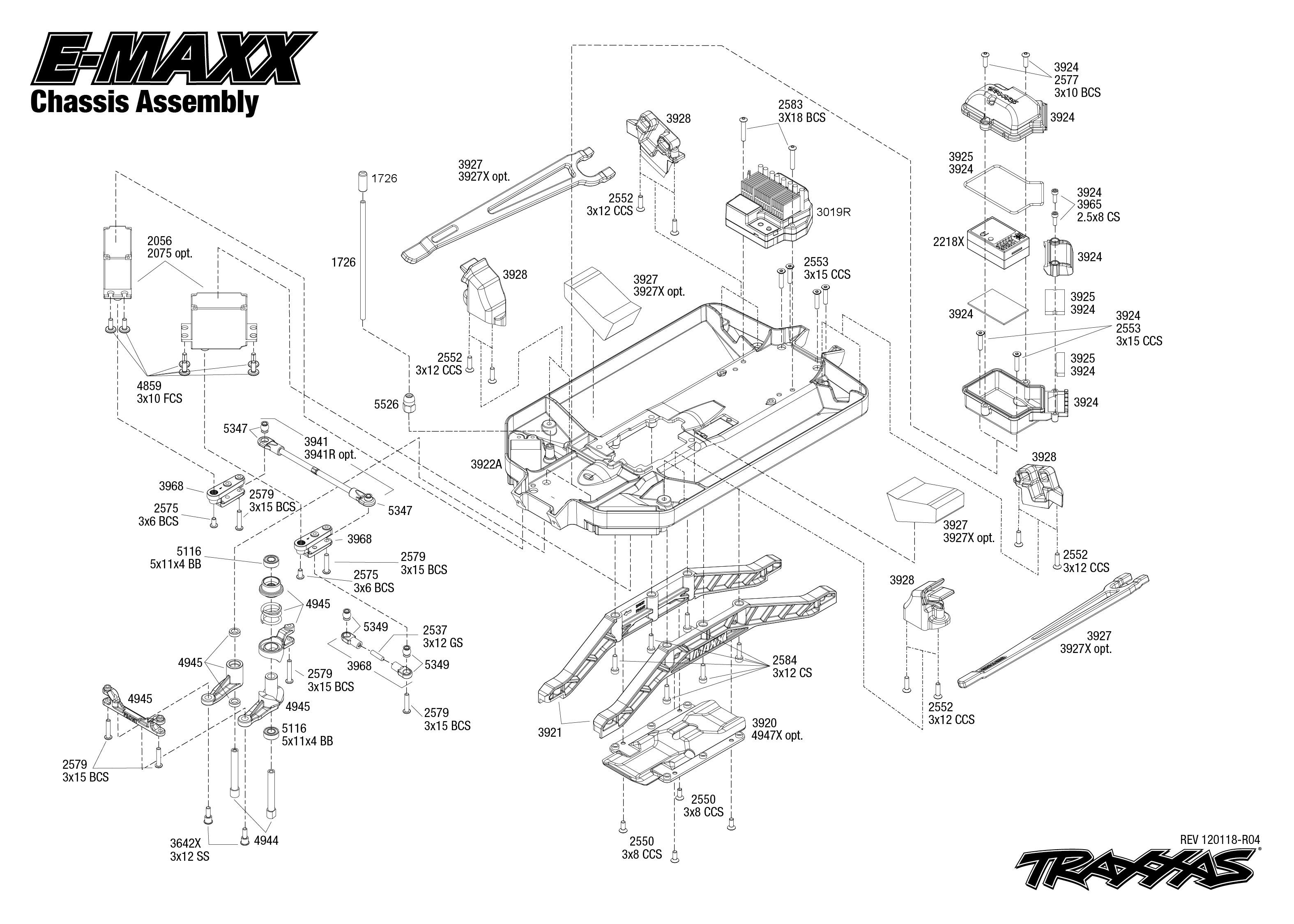 T Maxx Parts Diagram 33 Wire Diagrams Traxxas Wiring E 3903 Block And Schematic U2022 25