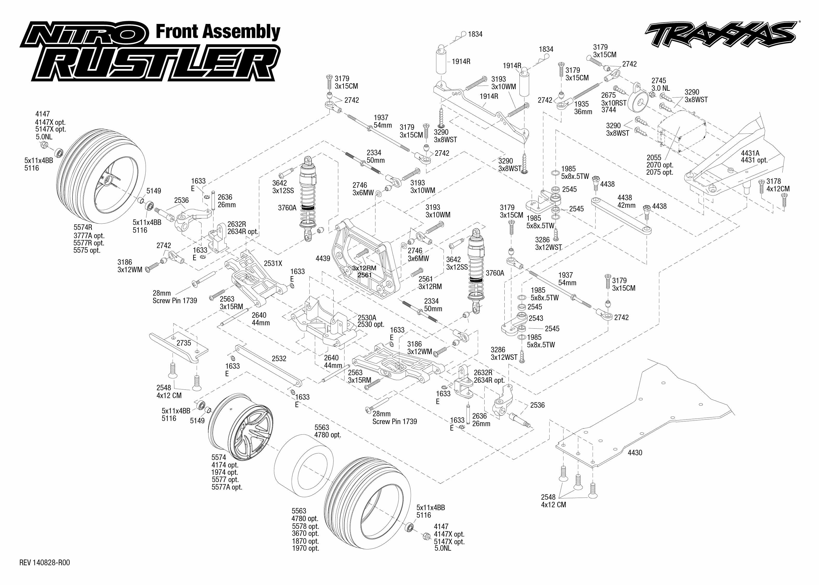 exploded view front part astra rh astramodel cz traxxas rustler transmission diagram traxxas rustler diagram parts