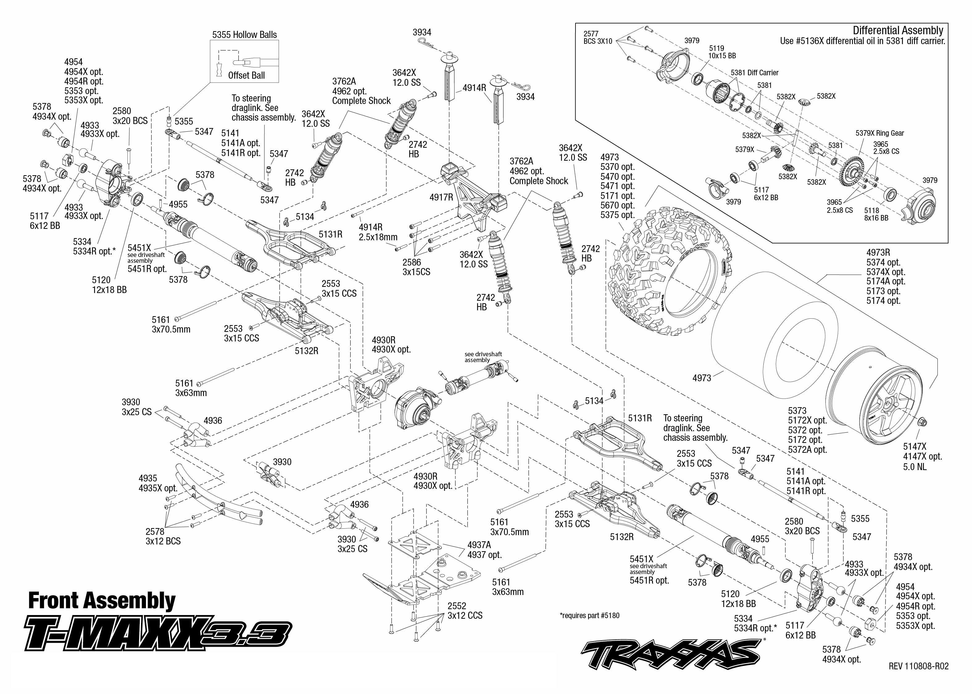 Exploded View  Traxxas Nitro T-maxx 1 10