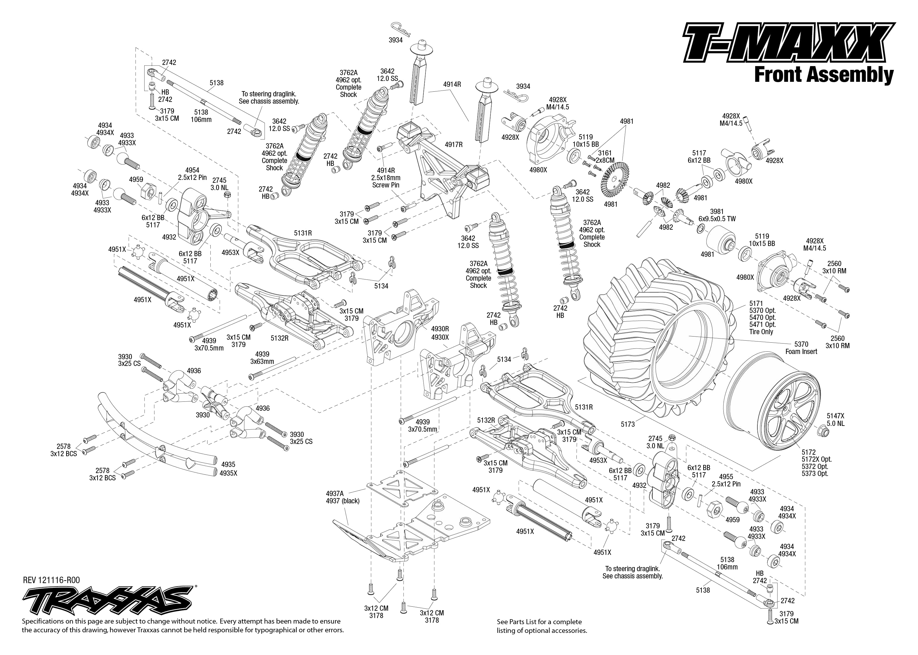 Exploded View T Maxx Classic Front Part Astra