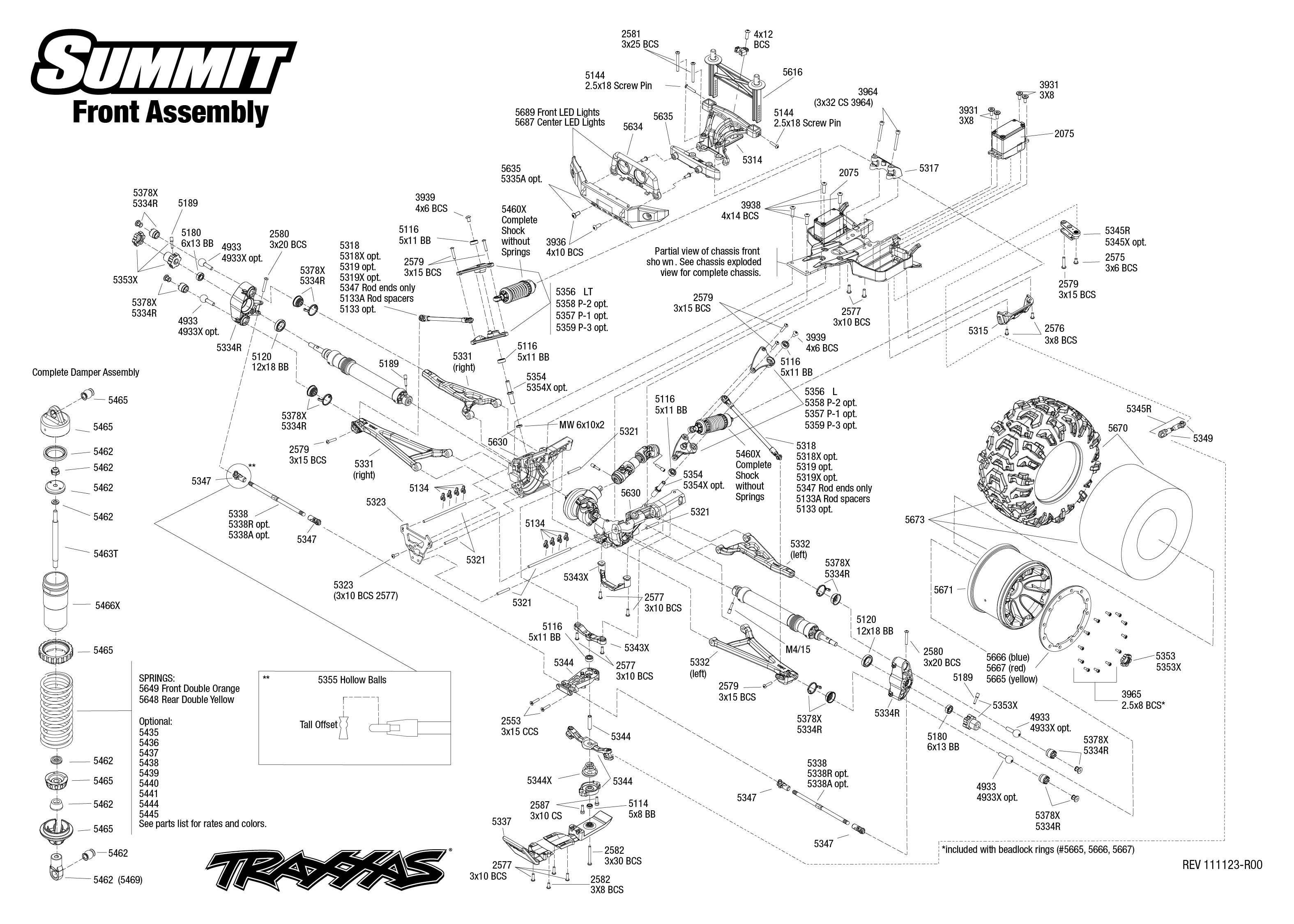Traxxas Summit Diagram Electrical Wiring Stampede Vxl Parts Monster Jam Replicas 3602 Exploded View 1 10 Front Part Astra Rh Astramodel Cz