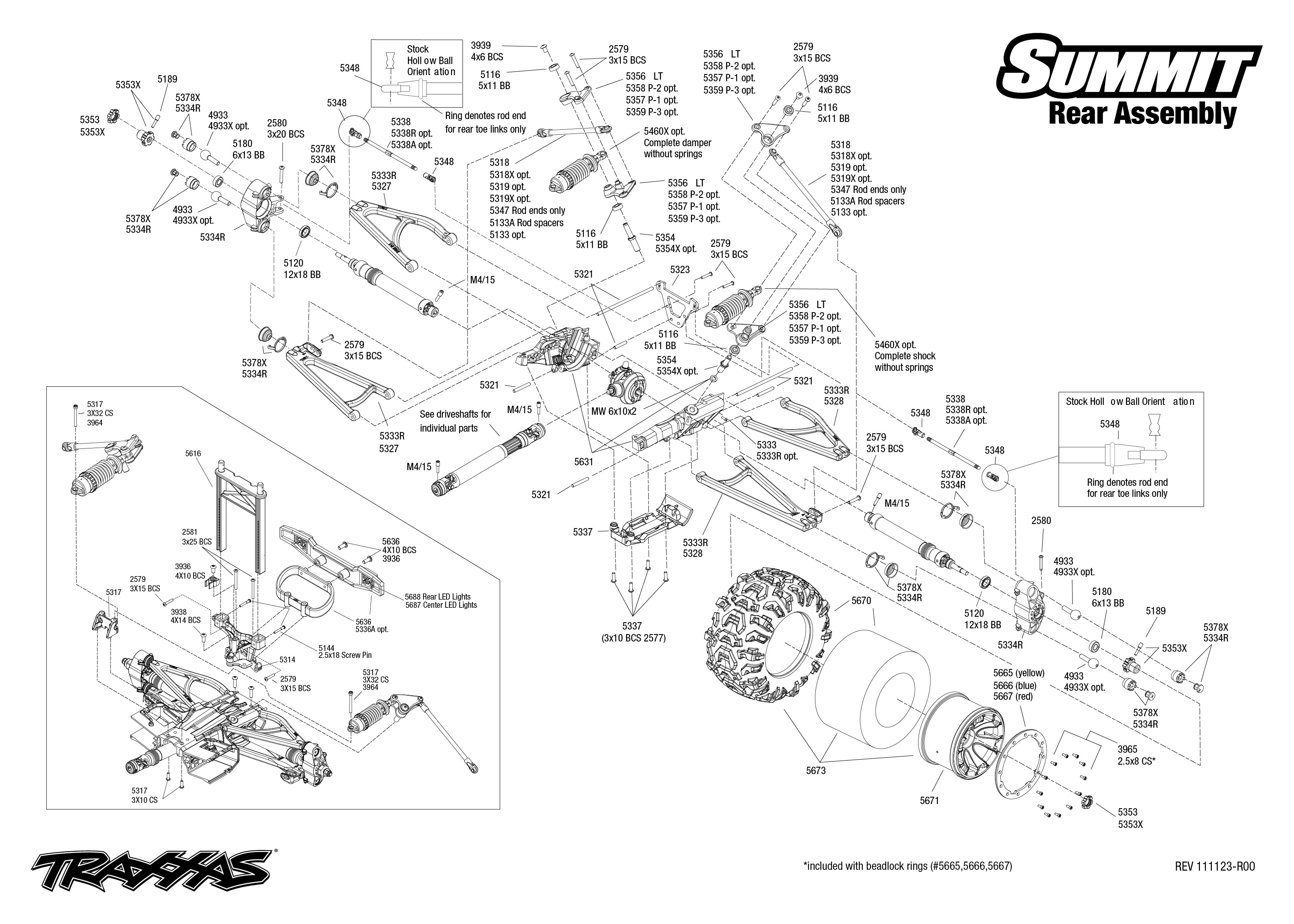 exploded view  traxxas summit 1 10