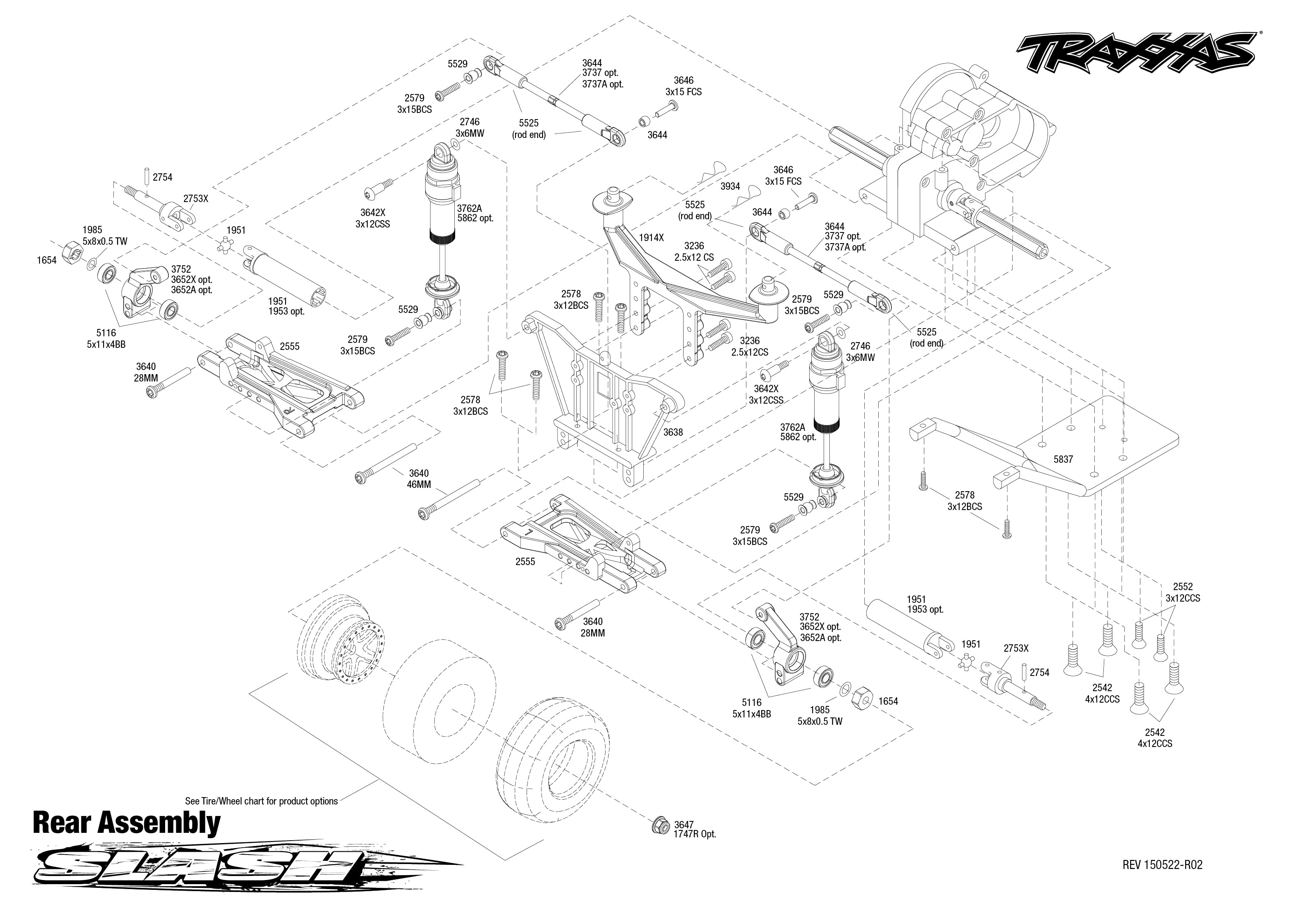 Exploded View Traxxas Slash 2wd 1 10 Rear Part Astra