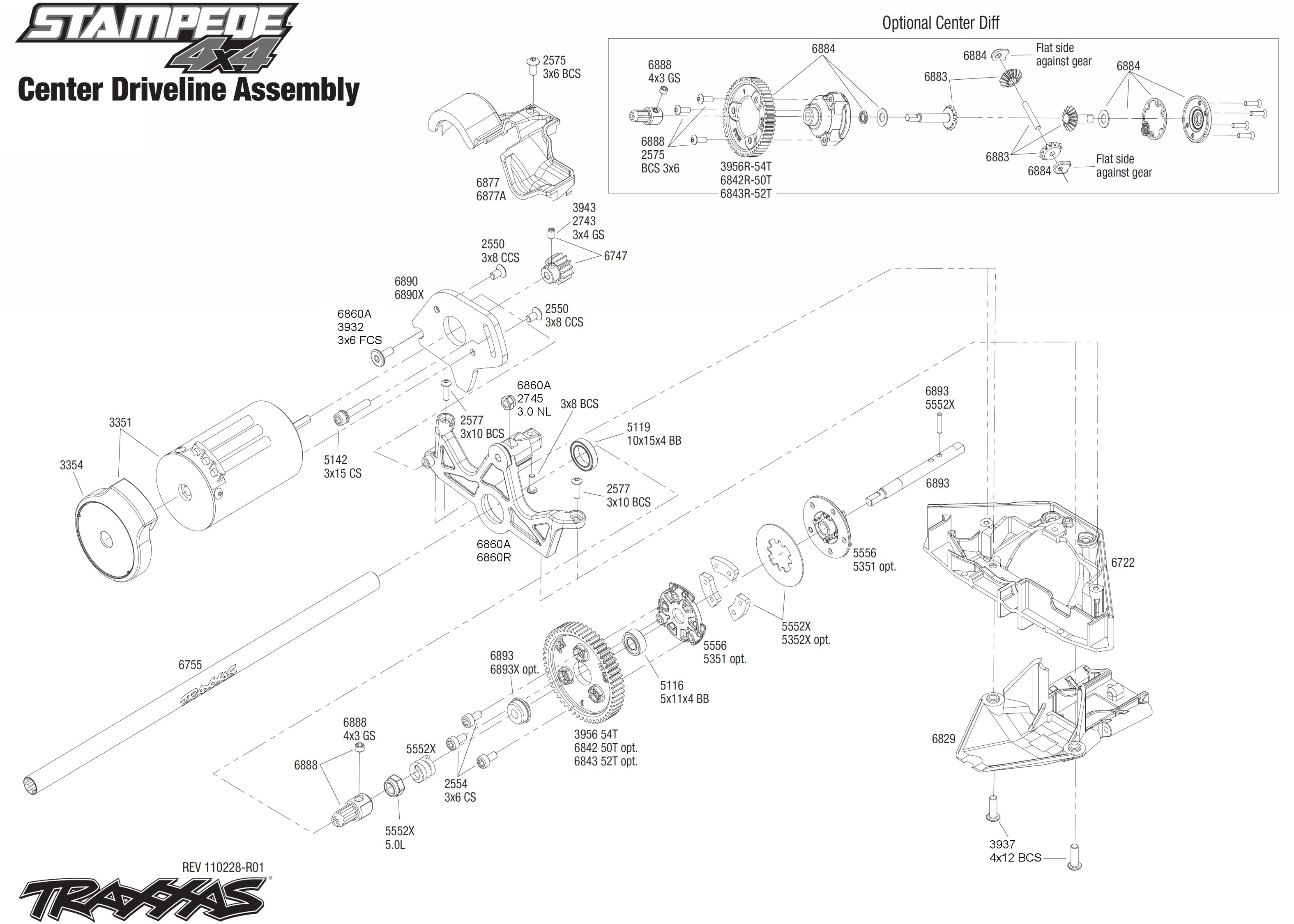exploded view traxxas stampede vxl 1 10 transmission astra rh astramodel cz