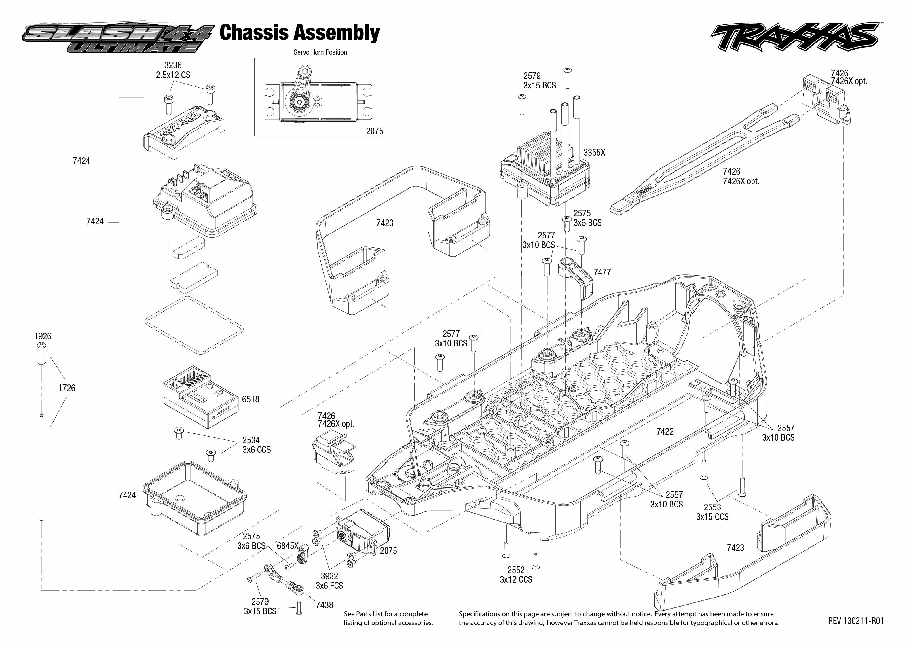 exploded view  traxxas slash ultimate 1 10 4wd vxl lcg tqi iphone