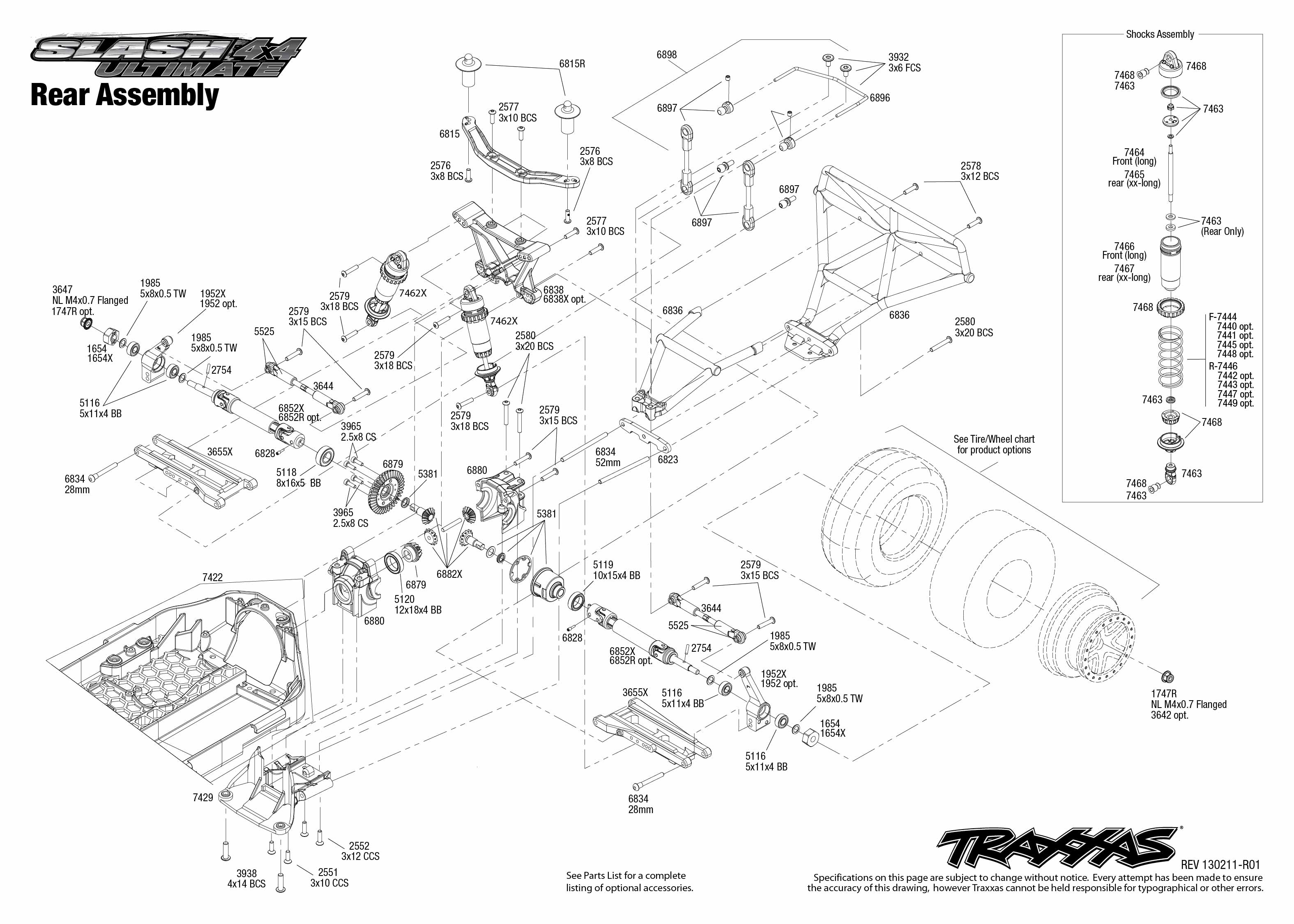 Traxxas Slash 4x4 Diagram Trusted Wiring Diagrams Ultimate Diy Enthusiasts 6808 Parts List 1 10