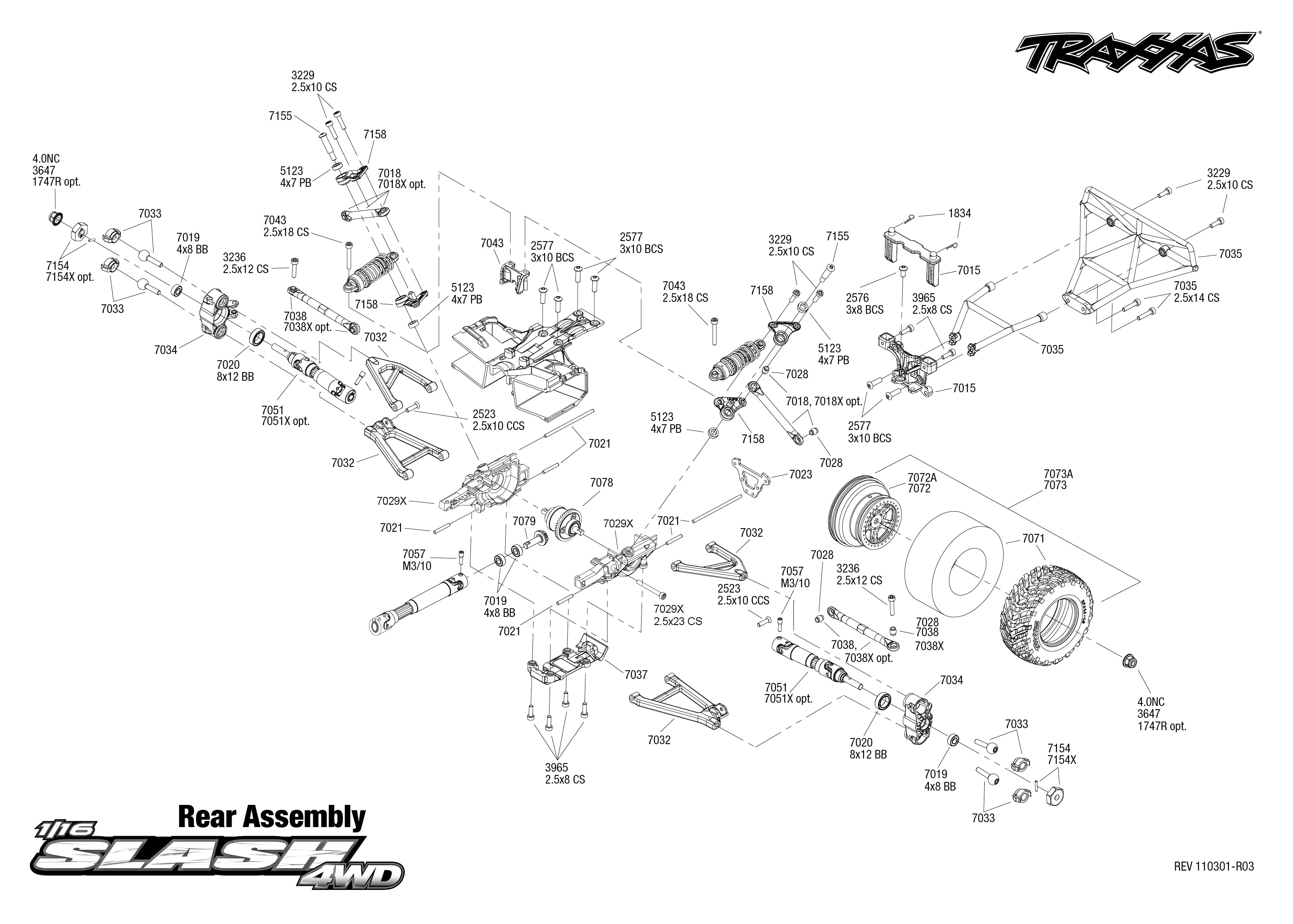 Traxxas Slash 2wd Assembly Manual Wiring Diagram Master Blogs 4510 Nitro Sport Explodedviews Chassis 0 Pdf Database Rh 18 2 Infection Nl De Instruction