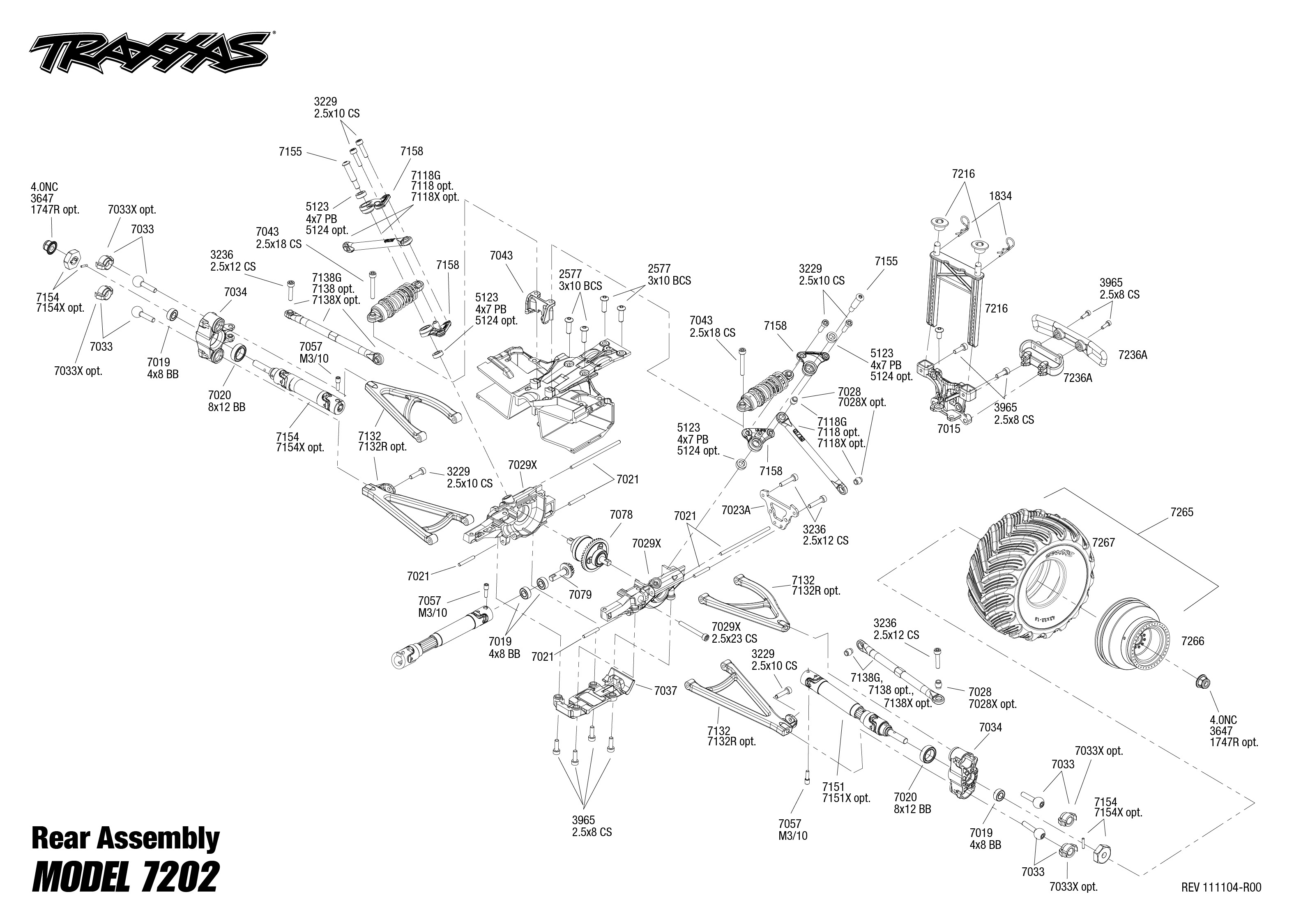 exploded view  traxxas grave digger 1 16