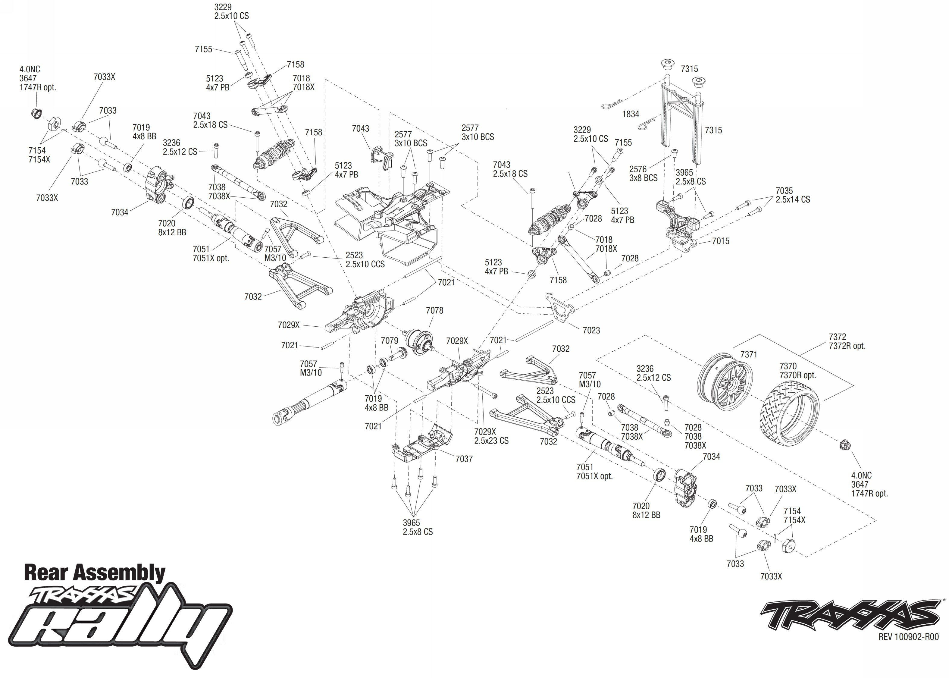 Traxxas 1 16 Parts Diagram Great Installation Of Wiring Revo Vxl E Exploded View Rally Rear Part Astra Rh Astramodel Cz R C Summit Hop Up Manual