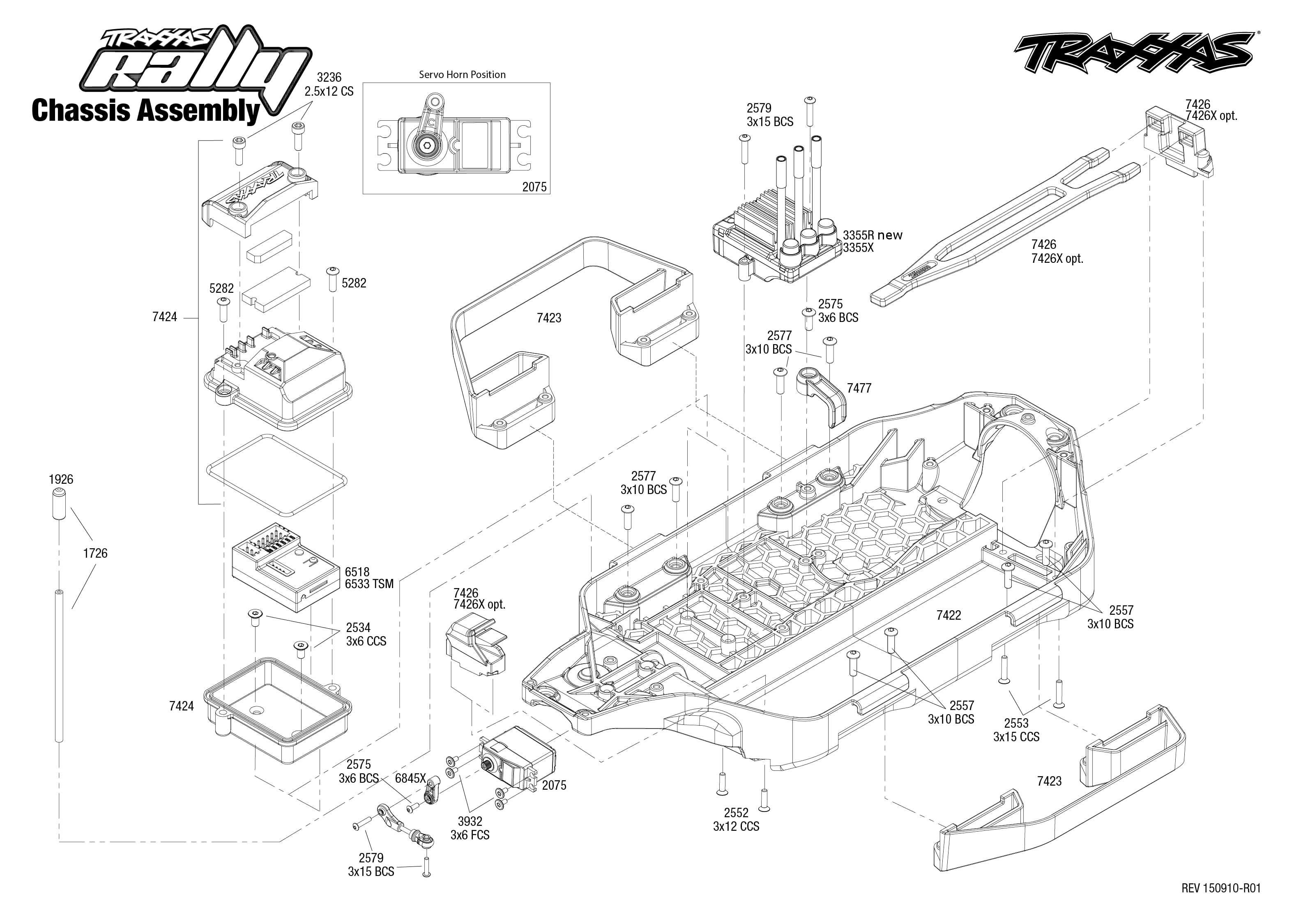 exploded view  traxxas rally 1 10 vxl