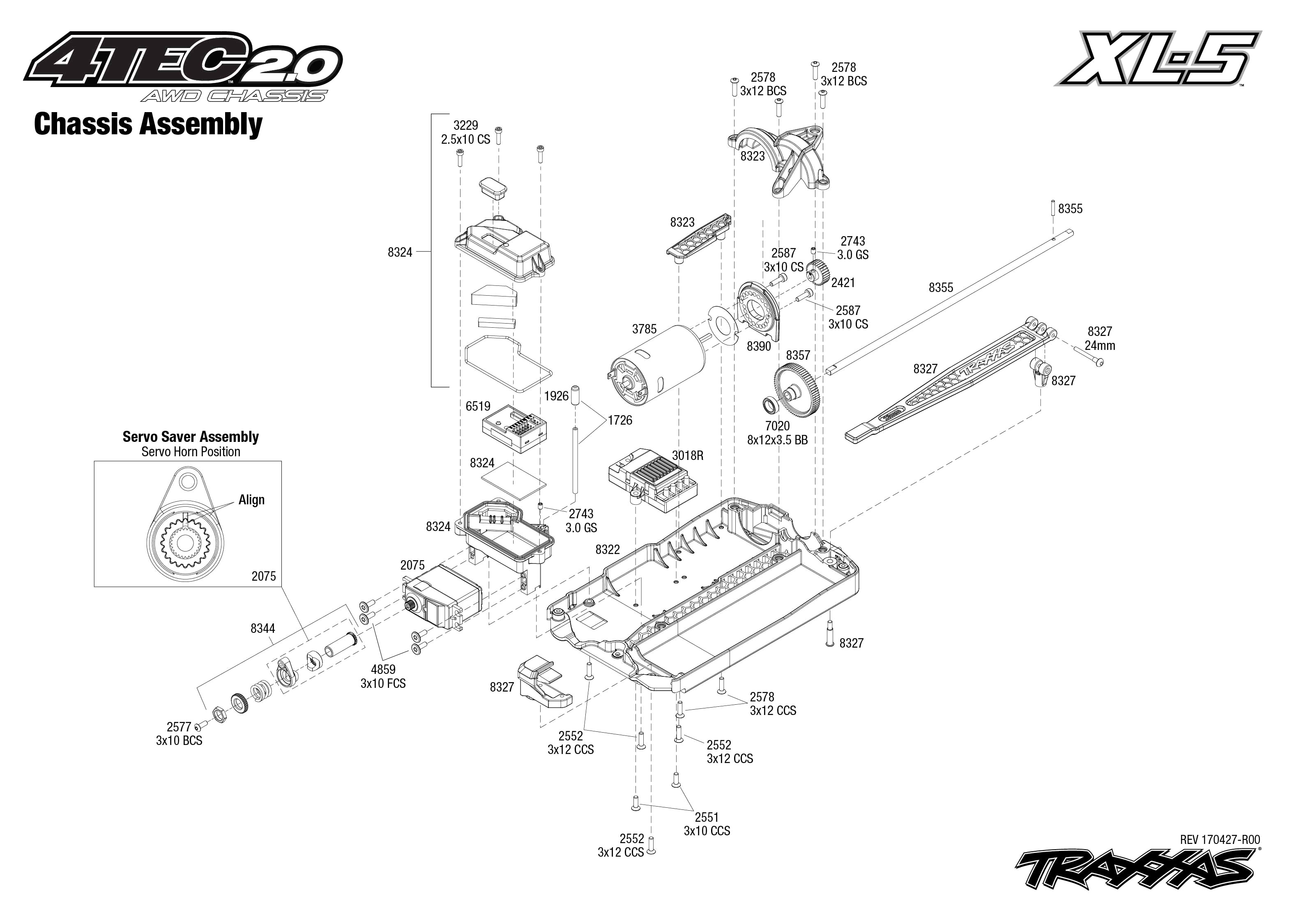 Traxxas 4 Tec Electric Manual Parts Rustler Brushed Quick Start Exploded View