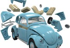 Airfix Quick Build auto VW Beetle