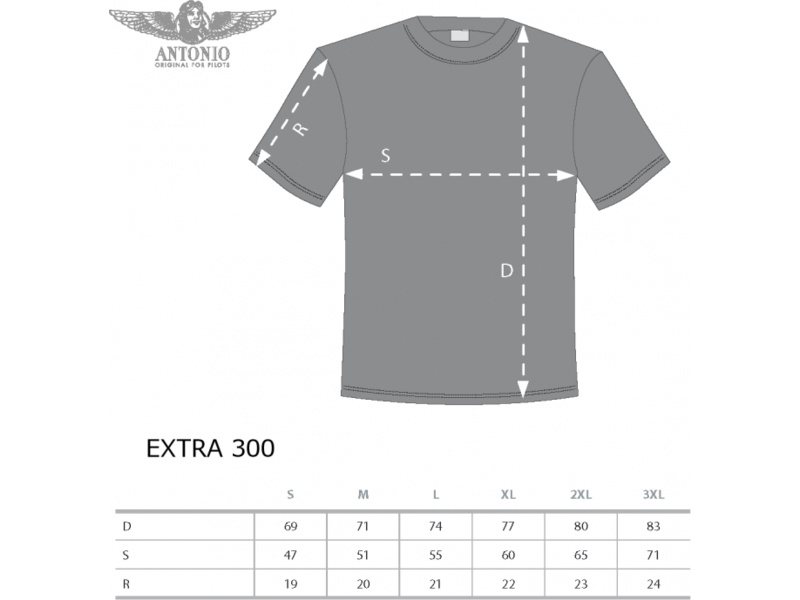 Antonio pánské tričko Extra 300 modré XXL