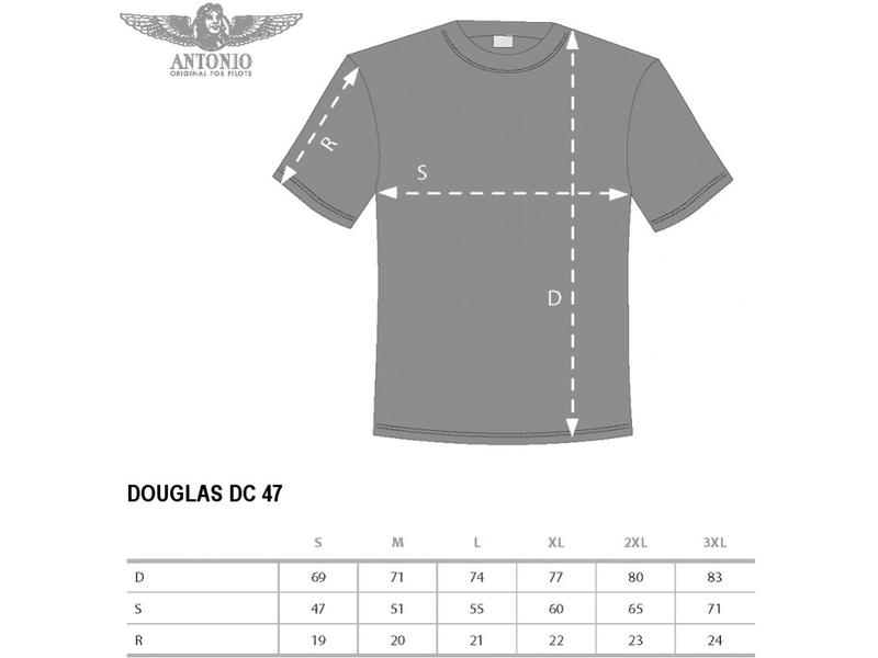 Antonio pánské tričko Douglas C-47 Skytrain M