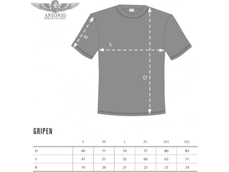 Antonio pánské tričko JAS-39/C Gripen XXL