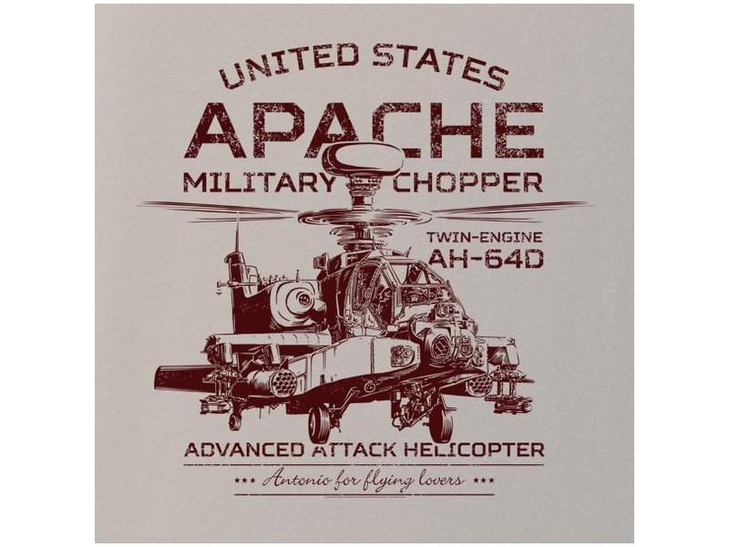 Antonio pánské tričko Apache AH-64D L