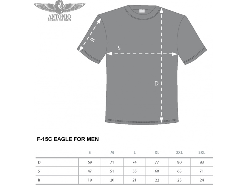 Antonio pánské tričko F-15C Eagle L