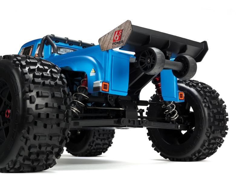 598d480d5c7 ... RC model auta Arrma Notorious 6S BLX 1 8  Detail karosérie - modrá  verze ...