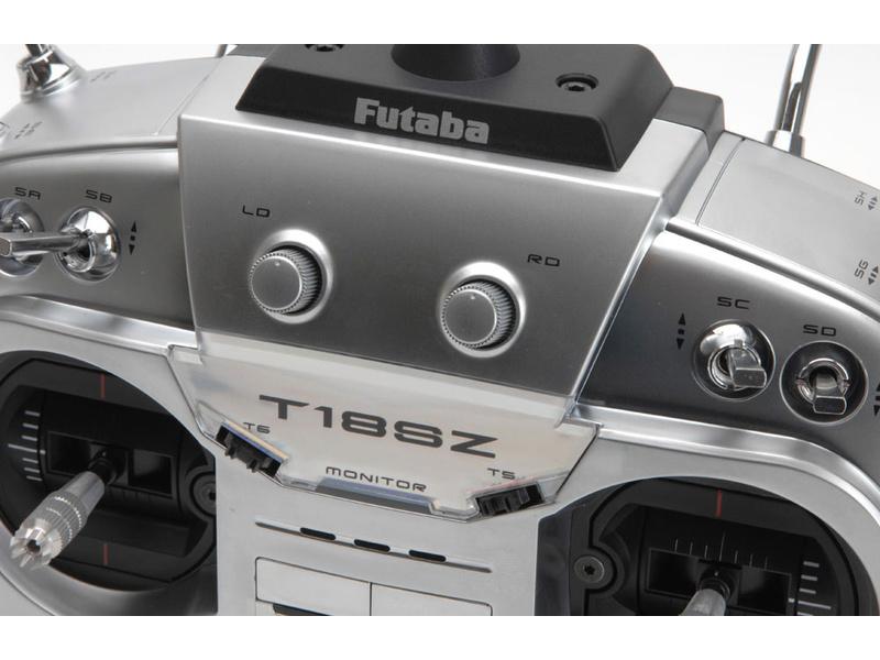 Futaba T18SZ 2.4GHz LiFe aku Mód 1, R7014SB