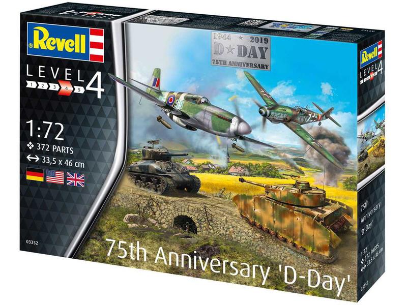 75 Years D-Day Set 1:72 Plastic Model Kit REVELL