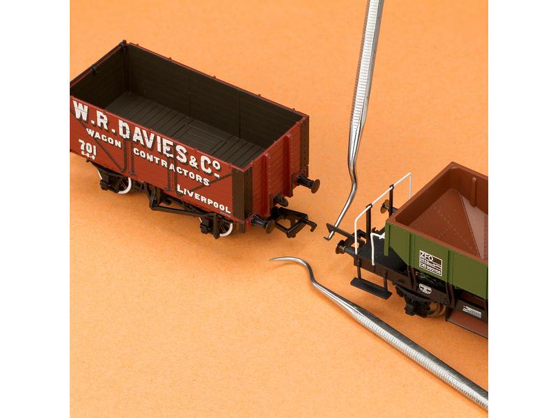 Modelcraft mini háčky z nerezové oceli (sada 6ks)