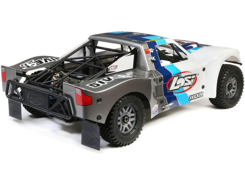 Losi 1//5 Front//Rear 4.75 Wheel and Beadlock Set : 5ive-T 2.0 Grey LOS45023 2 24mm Hex