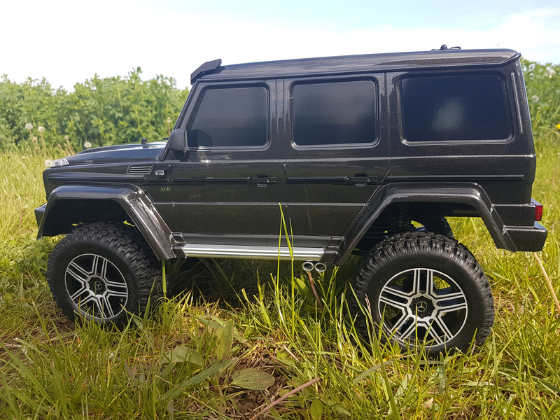 1:10 Traxxas TRX-4 Mercedes G500 TQi RTR (čierny)