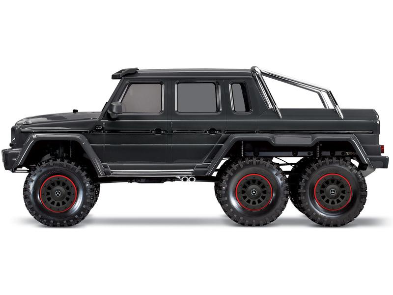 1:10 Traxxas TRX-4 Mercedes-Benz G63 6×6 TQi RTR (čierny)