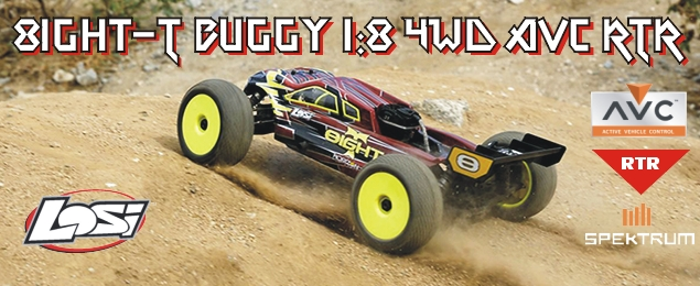 Losi 8ight-T Buggy 1:8 4WD AVC benzín RTR