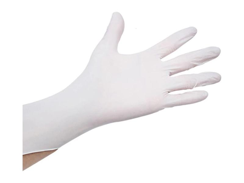 Rukavice jednorázové latexové, pudr. M (100ks)