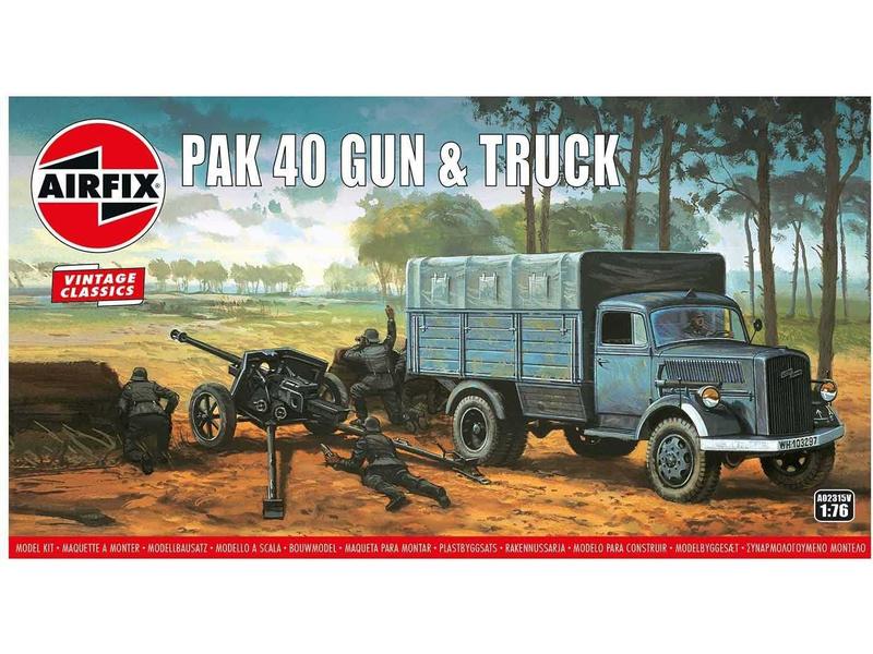 Airfix PAK 40 Gun and Truck (1:76) (Vintage)