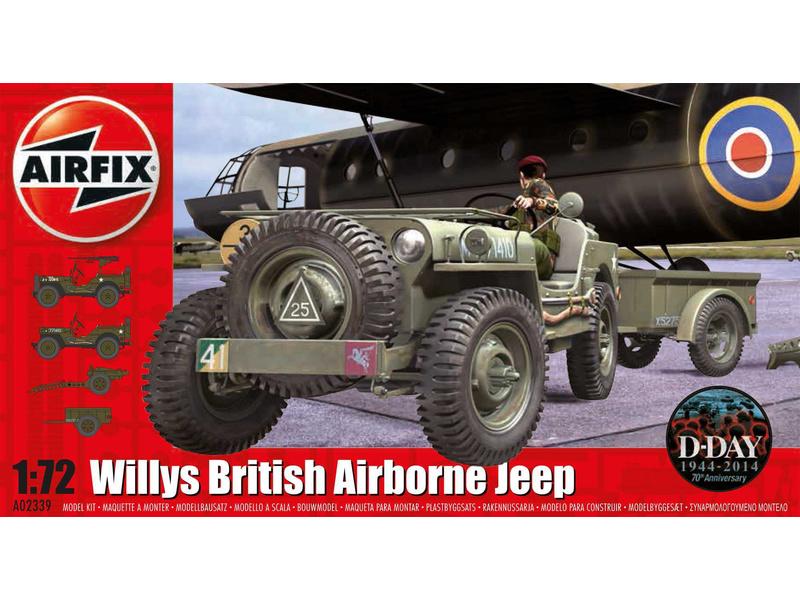 Airfix Willys Jeep, Trailer a 6PDR Gun (1:72)