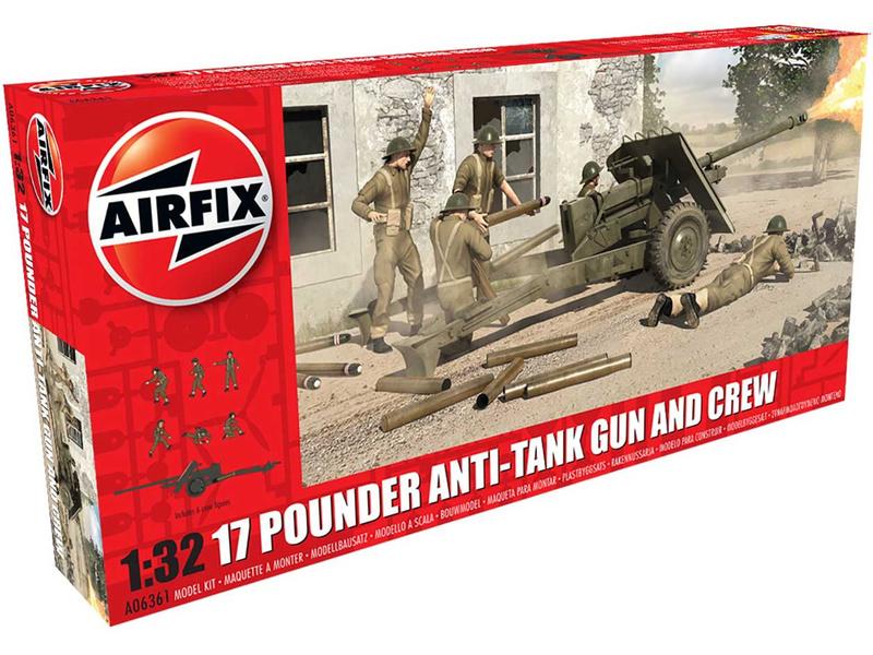 Airfix 17 librové protitankové dělo (1:32)