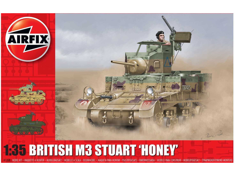 Airfix M3 Stuart, Honey (British Version) (1:35)