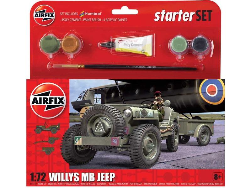 Airfix Willys MB Jeep (1:72) (sada)