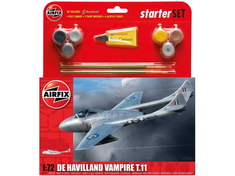 Airfix De Havilland Vampire T11 (1:72) (set)
