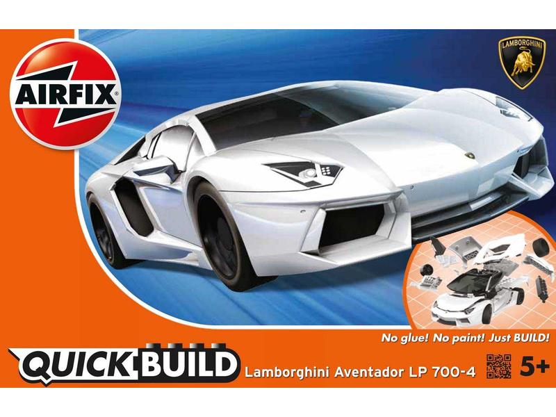 Airfix Quick Build Lamborghini Aventador - bílá
