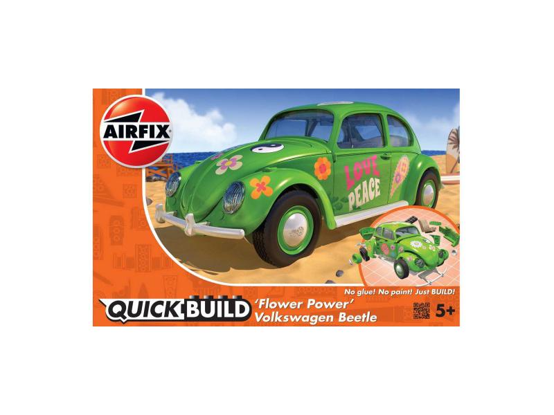 Airfix Quick Build Volkswagen Beetle Flower-Power