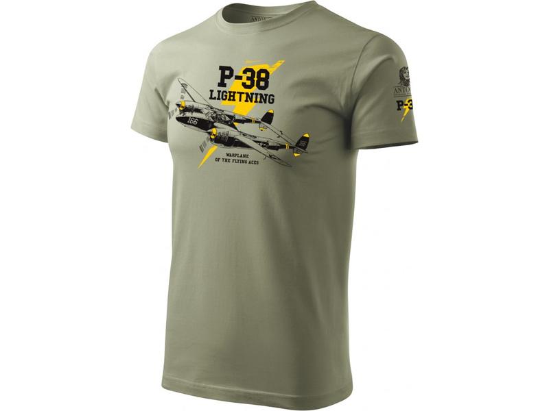 Antonio pánské tričko P-38 Lightning S