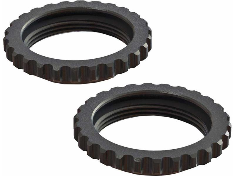 Arrma stavěcí matice tlumiče hliník, černá (2): 6S