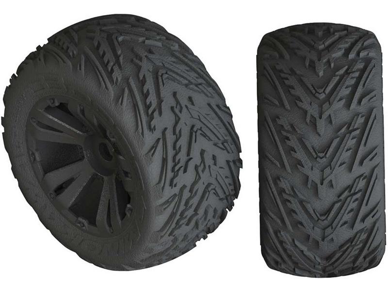 Arrma kolo s pneu Minokwa 4S černá (2)