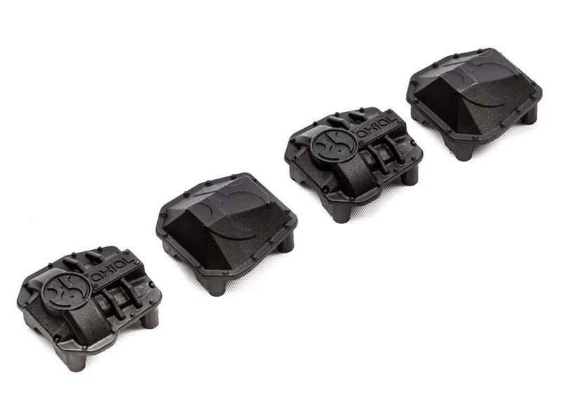 Axial SCX10 III Early Ford Bronco 4WD: Kryt diferenciálu AR45P a AR45 (černý)