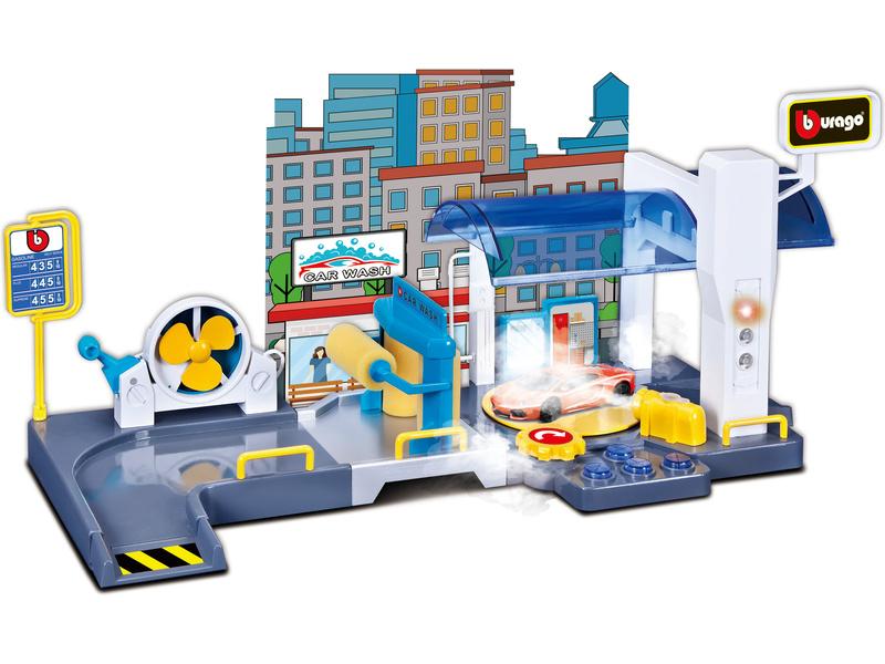 Bburago garáž s automyčkou