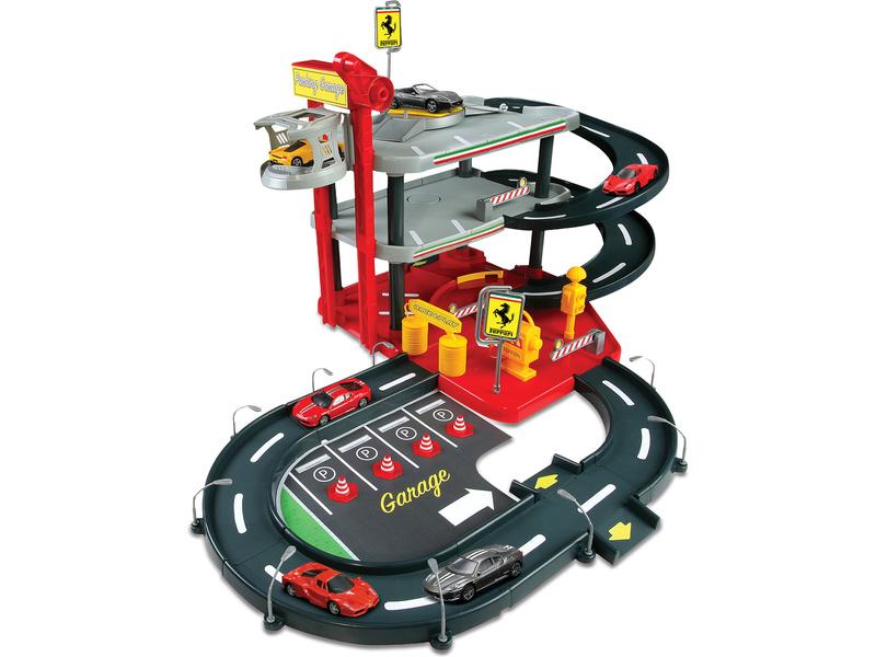Bburago Ferrari patrová garáž s benzinkou