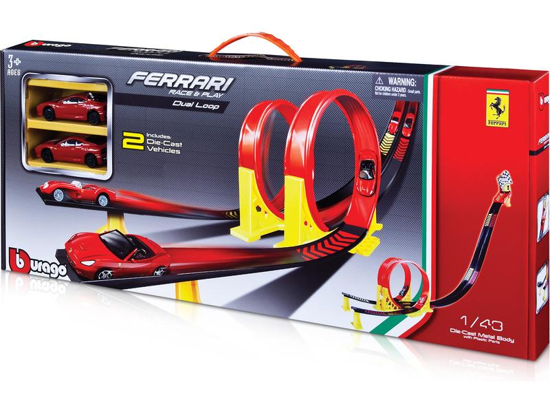 Bburago Ferrari závodní dráha se 2 lopingy