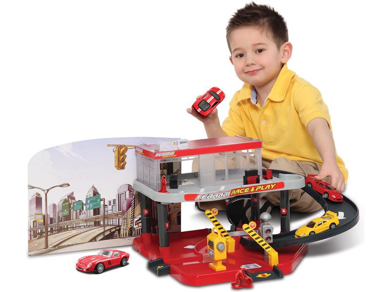 Bburago Ferrari patrový autoservis s benzinkou