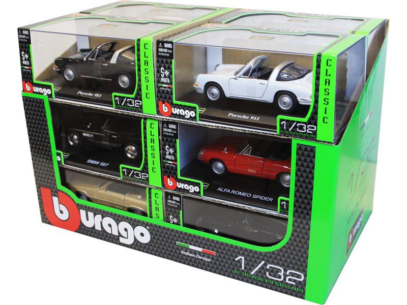 Bburago auta Classic 1:32 (sada 12ks)