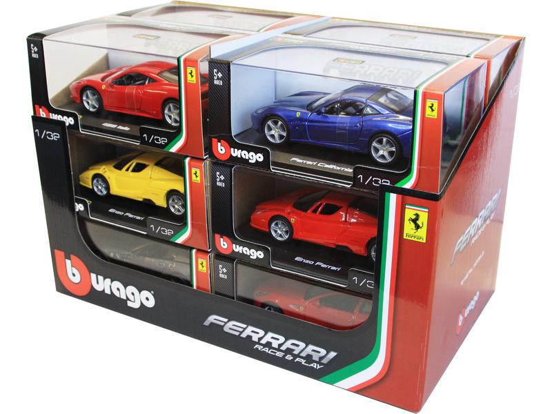 Bburago auta Ferrari 1:32 (sada 12ks)