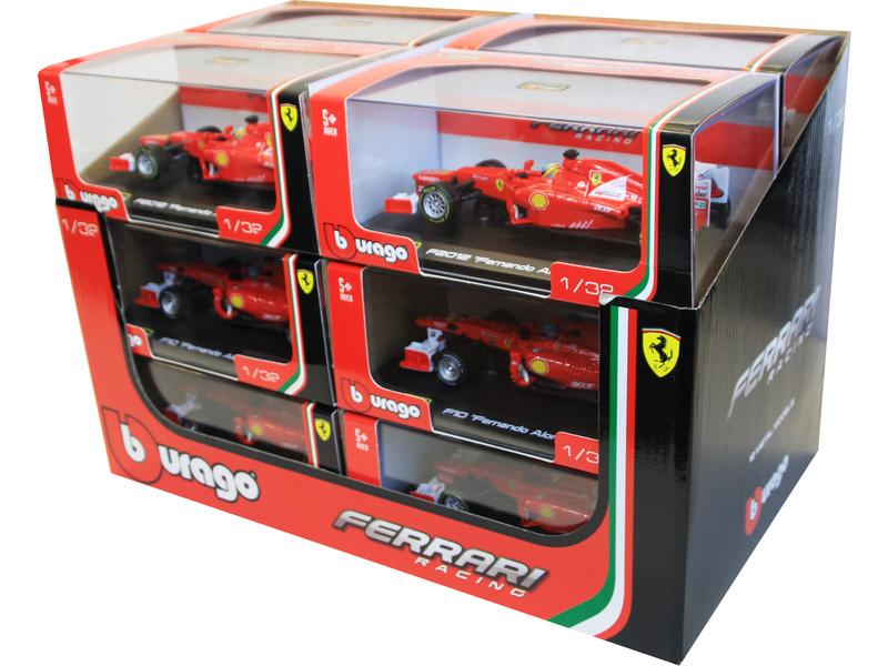 Bburago formule Ferrari 1:32 (sada 12ks)