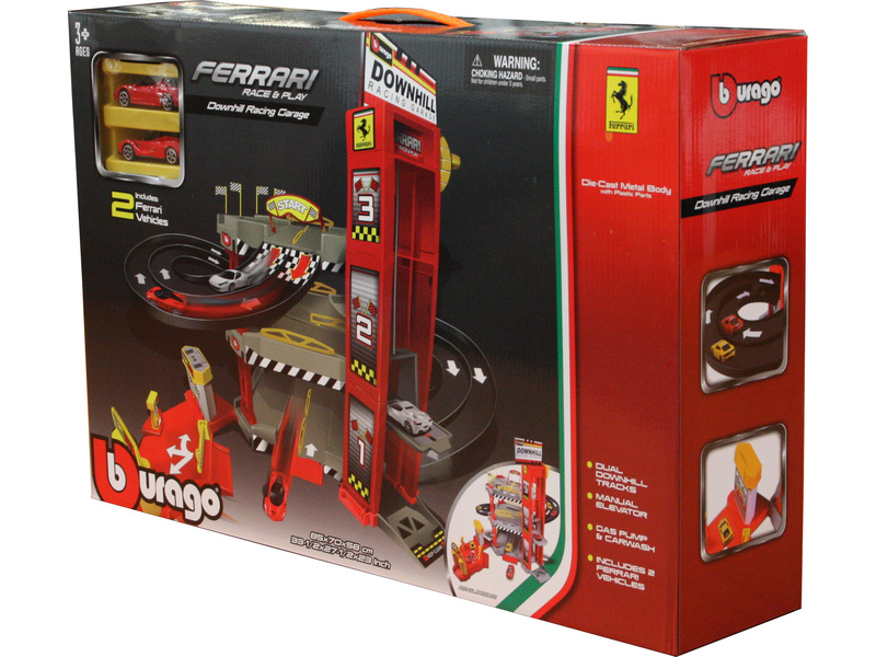 Bburago Ferrari dráha s výtahem a automyčkou